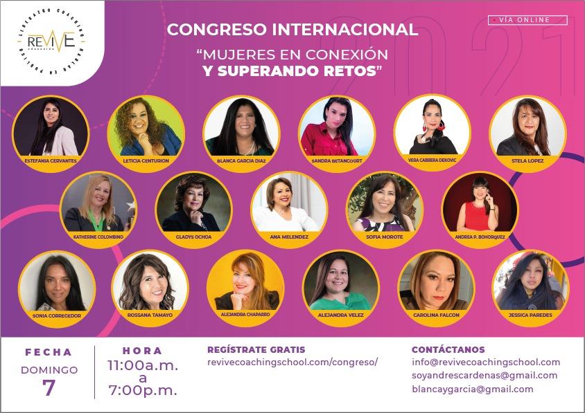 Congreso Internacional Mujeres en Conexion y Superando Retos